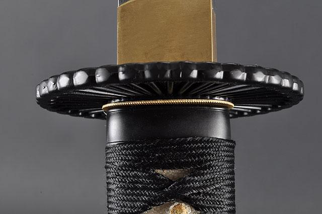 FULLY HANDMADE EMPIRE WHEEL CLAY TEMPERED JAPANESE SAMURAI KATANA & WAKIZASHI SWORDS - buyblade