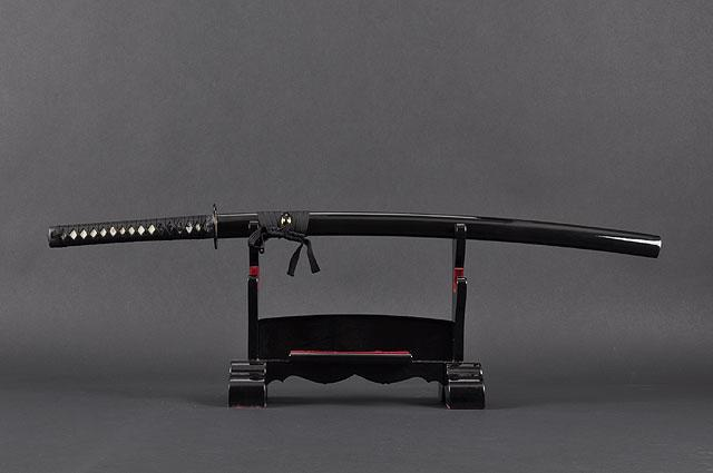 FULLY HANDMADE TOMOE CREST ALUMINIUM ALLOY JAPANESE KATANA TRAINING SWORD - buyblade