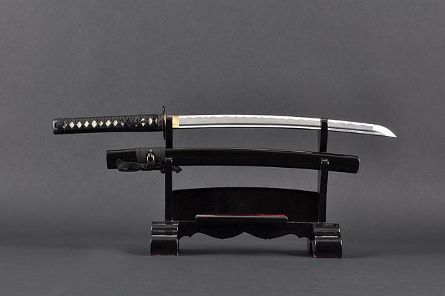 FULLY HANDMADE TOMOE CREST ALUMINIUM ALLOY JAPANESE WAKIZASHI TRAINING SWORD - buyblade