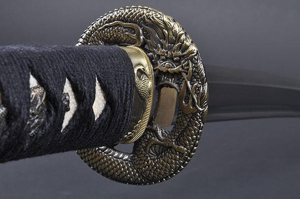 FULLY HANDMADE DRAGON STAINLESS JAPANESE SAMURAI WAKIZASHI TRAINING SWORD - buyblade