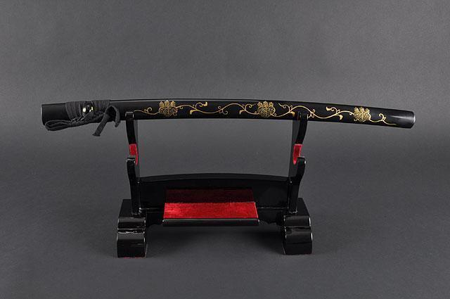 FULLY HAND FORGED BLACK FULL TANG JAPANESE SAMURAI KATANA SWORD - buyblade