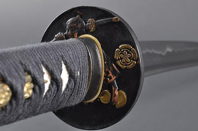 FULLY HAND FORGED FULL TANG BLACK JAPANESE WARRIOR KATANAS SWORDS - buyblade