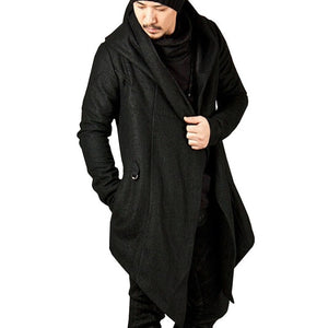 Steampunk Hooded Cloak-Cloak-Black-S-Burner Shop