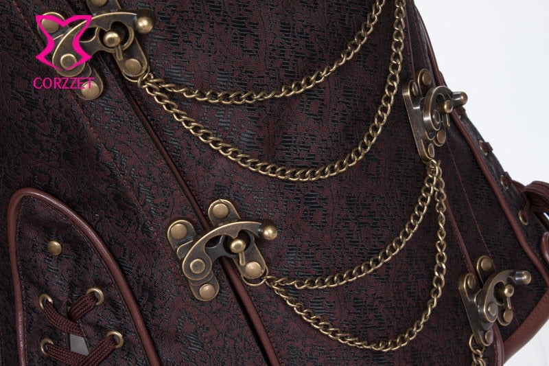 Vintage Steampunk Under-bust Corset for Women-Corset-Burner Shop