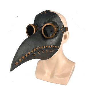 Medieval Steampunk Plague Bird-Face Masks-Black with Gold-Burner Shop