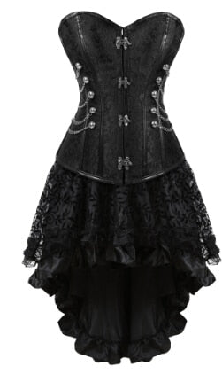 Gothic Steampunk Corsets-Corset-2837black-S-Burner Shop