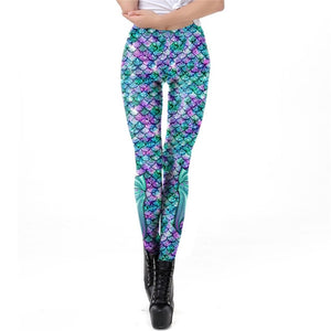 Galaxy Mermaid Leggings-Leggings-KDK1991-XL-Burner Shop