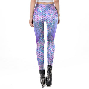Galaxy Mermaid Leggings-Leggings-Burner Shop