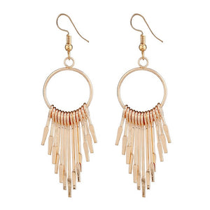 Boho Swing Shiny Long Tassels Drop Earrings for Women-Earrings-EK2076 Gold-Burner Shop
