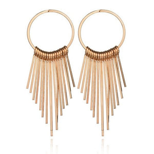 Boho Swing Shiny Long Tassels Drop Earrings for Women-Earrings-EK147 Gold-Burner Shop
