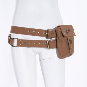 Steampunk Women's Belt With Pocket Canvas-Bags-Coffee-Burner Shop