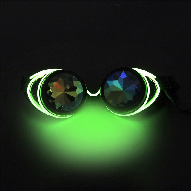 Steampunk LED Goggles-Green-Burner Shop