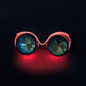Steampunk LED Goggles-Red-Burner Shop