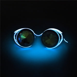 Steampunk LED Goggles-Blue-Burner Shop