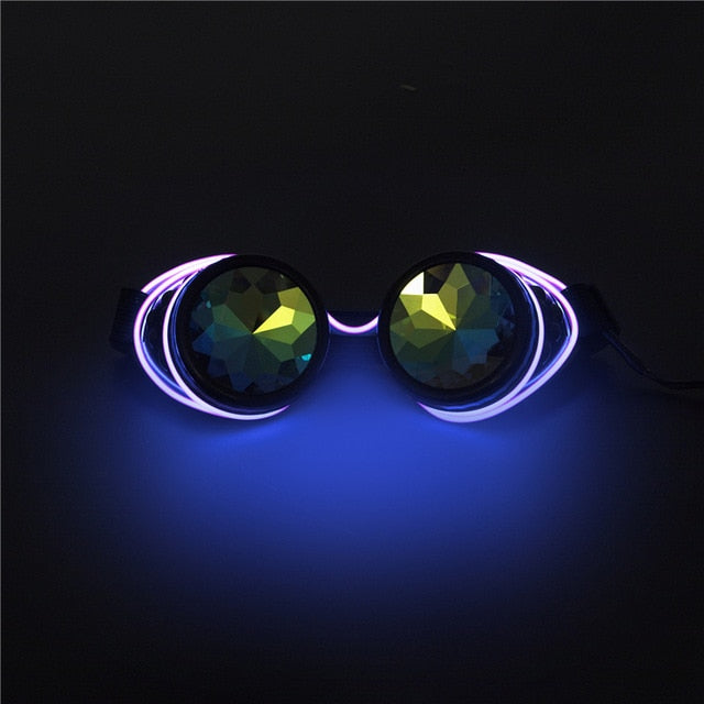 Steampunk LED Goggles-Purple-Burner Shop