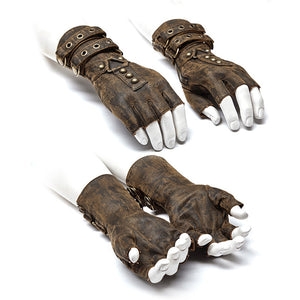 Gothic Fingerless Gloves-Gloves-Coffee-XXXL-Burner Shop