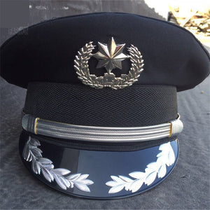 Officer Style Unisex Military Hat-Hats-Silver-Small (57-58cm)-Burner Shop