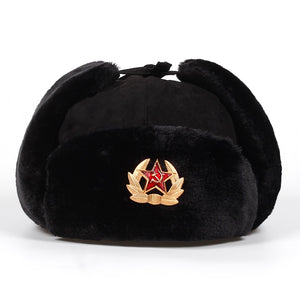 Russian Soviet Army Military Badge Bomber Hat-Hats-Burner Shop