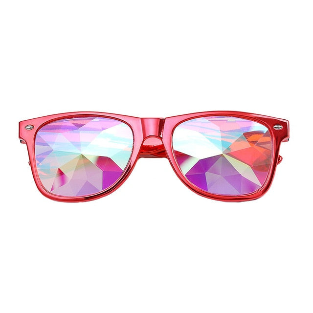 Kaleidoscope Glasses with Diffracted Lens-Glasses-Red-Burner Shop