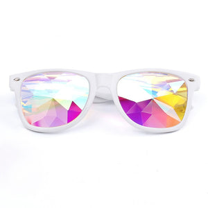 Kaleidoscope Glasses with Diffracted Lens-Glasses-White-Burner Shop
