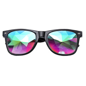 Kaleidoscope Glasses with Diffracted Lens-Glasses-Black-Burner Shop