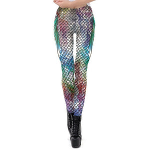 Galaxy Mermaid Leggings-Leggings-KDK1923-L-Burner Shop