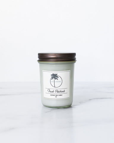 Fresh Patchouli Scent Coconut Wax Candle