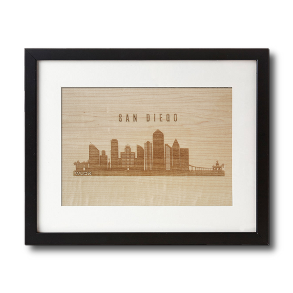 Laser Engraved Wooden Wall Art | CityScape Collection in Shimmering Maple