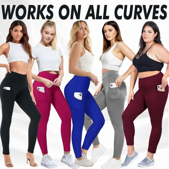 Yoga Pants High Waist Seamless Sport Leggings Elasticated Fitness Leggings with Pocket Hot Sale Running Fitness Clothes