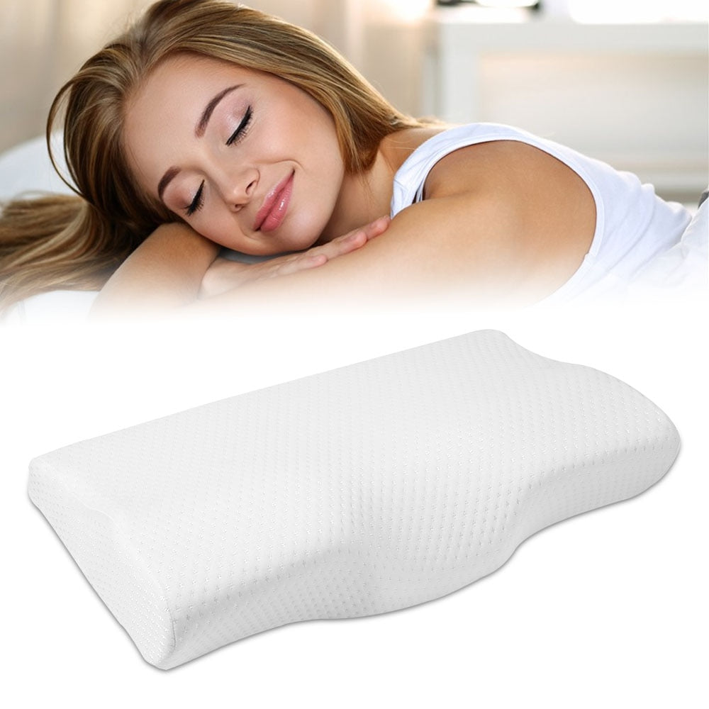 Memory Foam Butterfly Shaped Pillow For Neck Protection