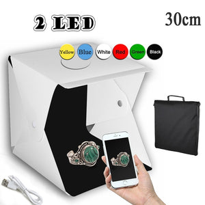 Portable Folding LED Lightbox 20cm 30cm 40cm Photography Photo