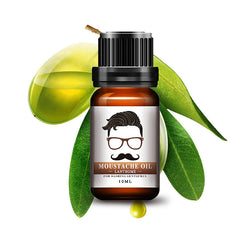 10ml Natural Men Beard Oil Gentlemen Mustache Growth Styling Beeswax