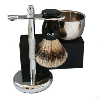 Silvertip Badger Hair Shaving Set Include Resin Handle Beard Brush