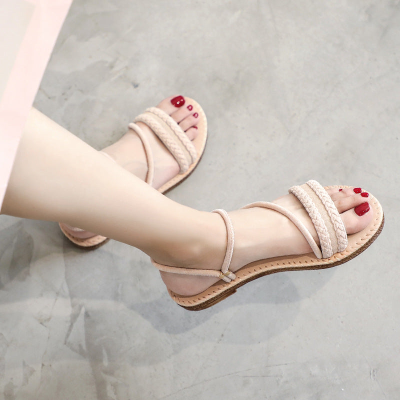 Genuine Leather Woman Shoes Casual Female Summer Beach Platform Sandals 11