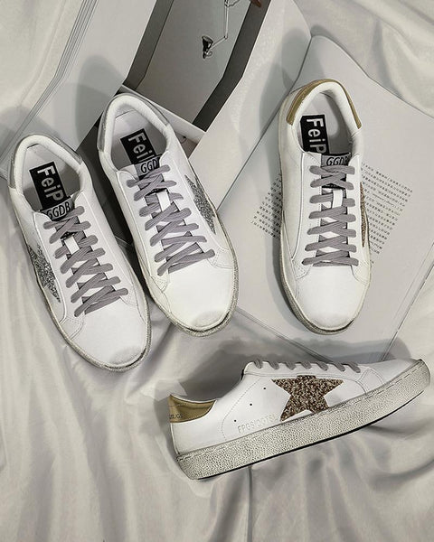 Sequin Star Lace-Up Sneaker
