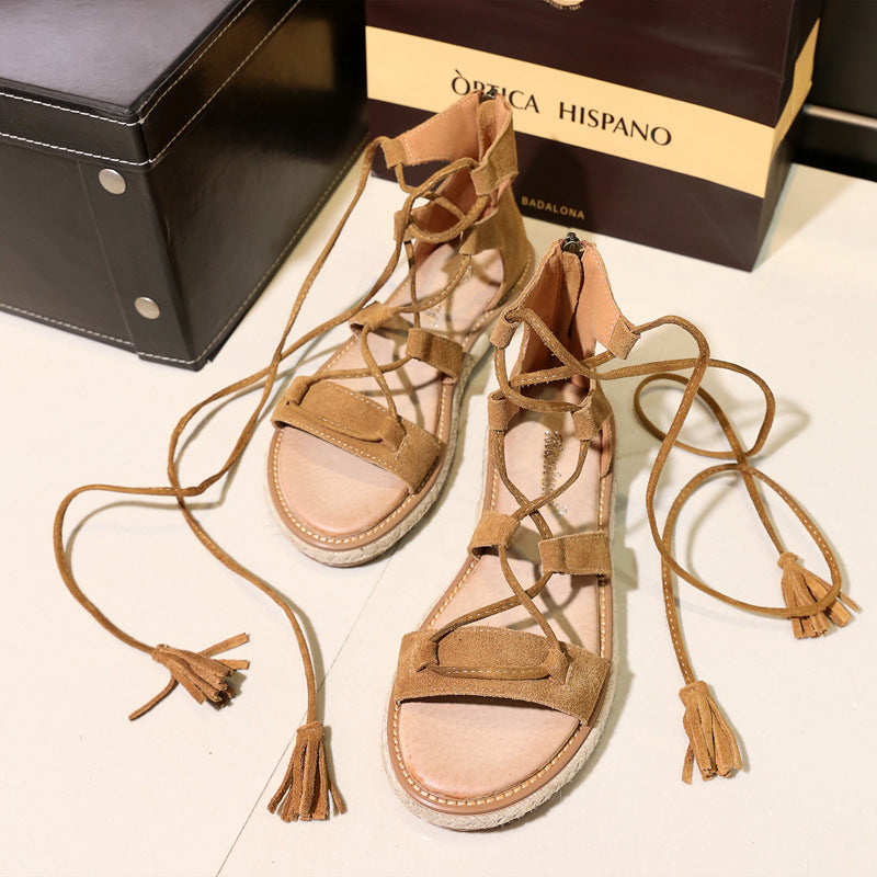 Fashion Cross Tied Ankle Strap Summer Shoes Women Sandals 3