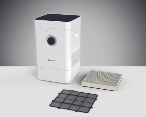 Image of Boneco HYBRID H400 3-in-1 Air Purifier, Real-Time Humidity Control - Best-AirPurifier