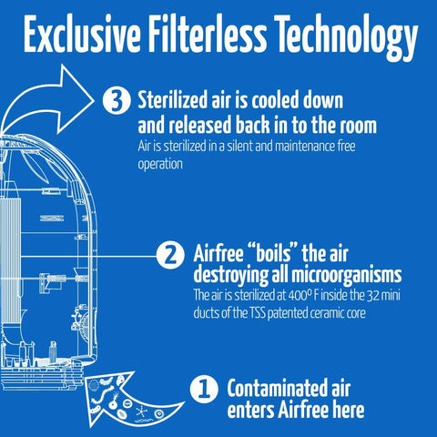 Airfree P3000 filterless Air Purifier Thermodynamic Thechnology, 650 ft² Capacity - Best-AirPurifier
