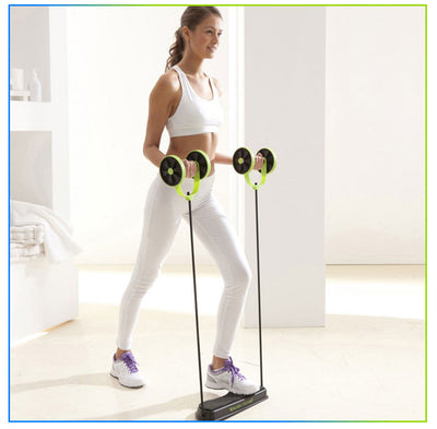 Wheel Ab Roller Double Muscle Trainer for Women - Extra Fitness