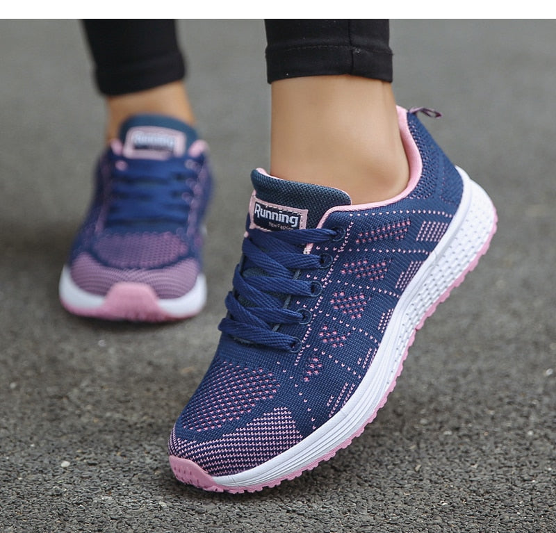 Fashion Lace-Up White Sport Sneakers Shoes for Women