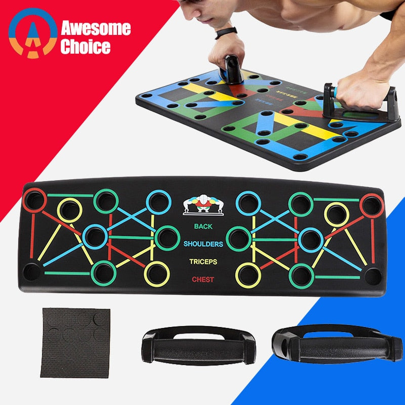 9 in 1 Body Building Board System for Comprehensive Fitness Exercise