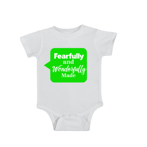 Fearfully and Wonderfully Made 2 Onesie