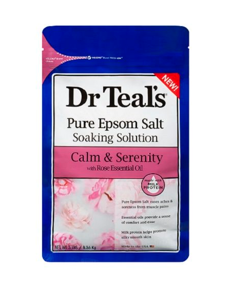 Dr. Teal's Calm & Serenity Pure Epsom Salt Soak with Rose & Milk