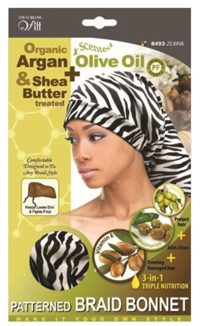 Qfitt Organic Patterned Braid Bonnet