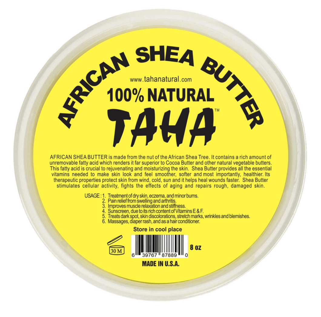 TAHA 100% Natural African Shea Butter 8oz. - Soft