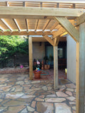 Flagstone and Pergola in Helotes Texas