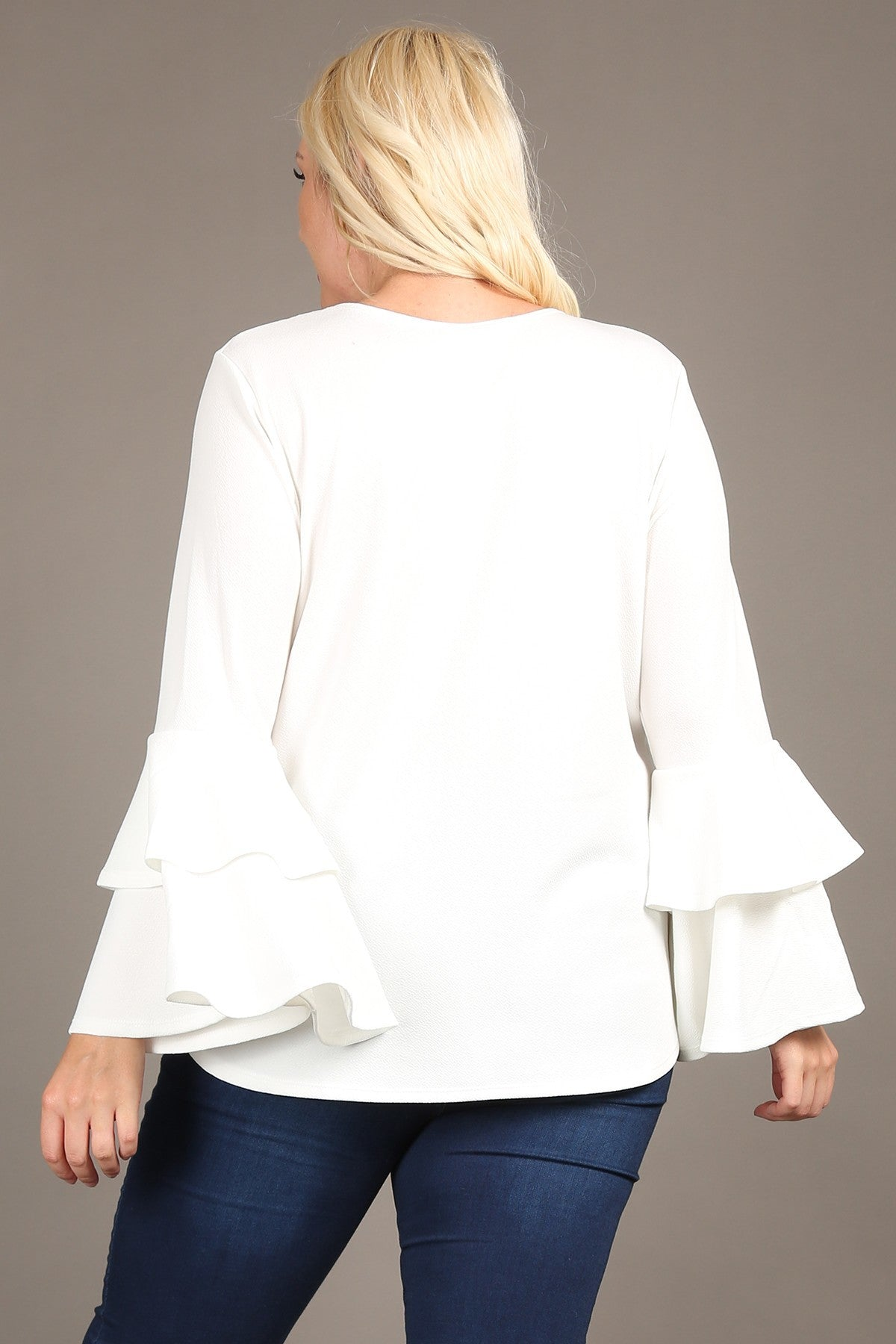 Winter White Plus Top
