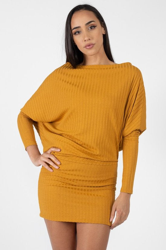 Mustard Sweater Dress