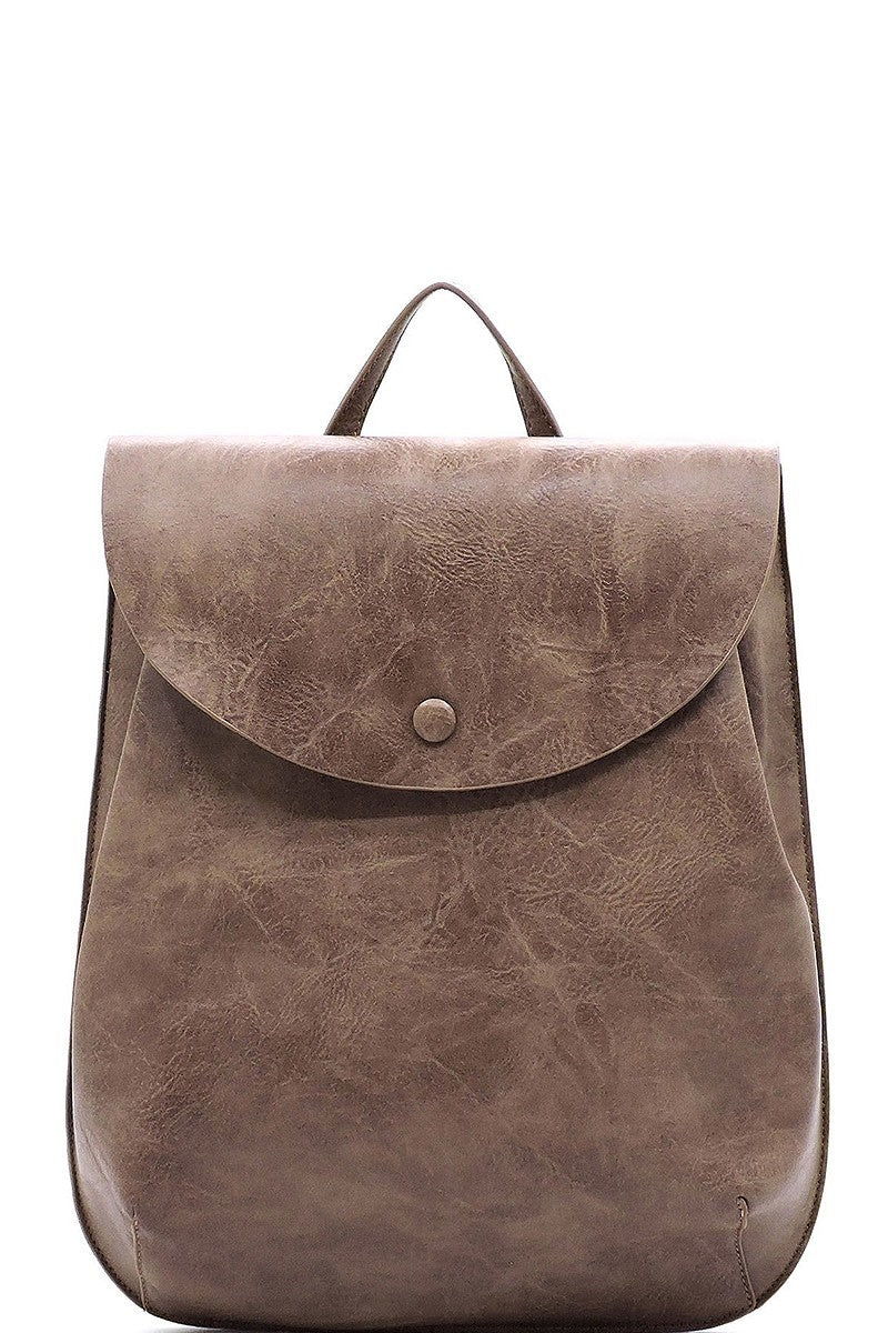 Convertible Vegan Leather Backpack