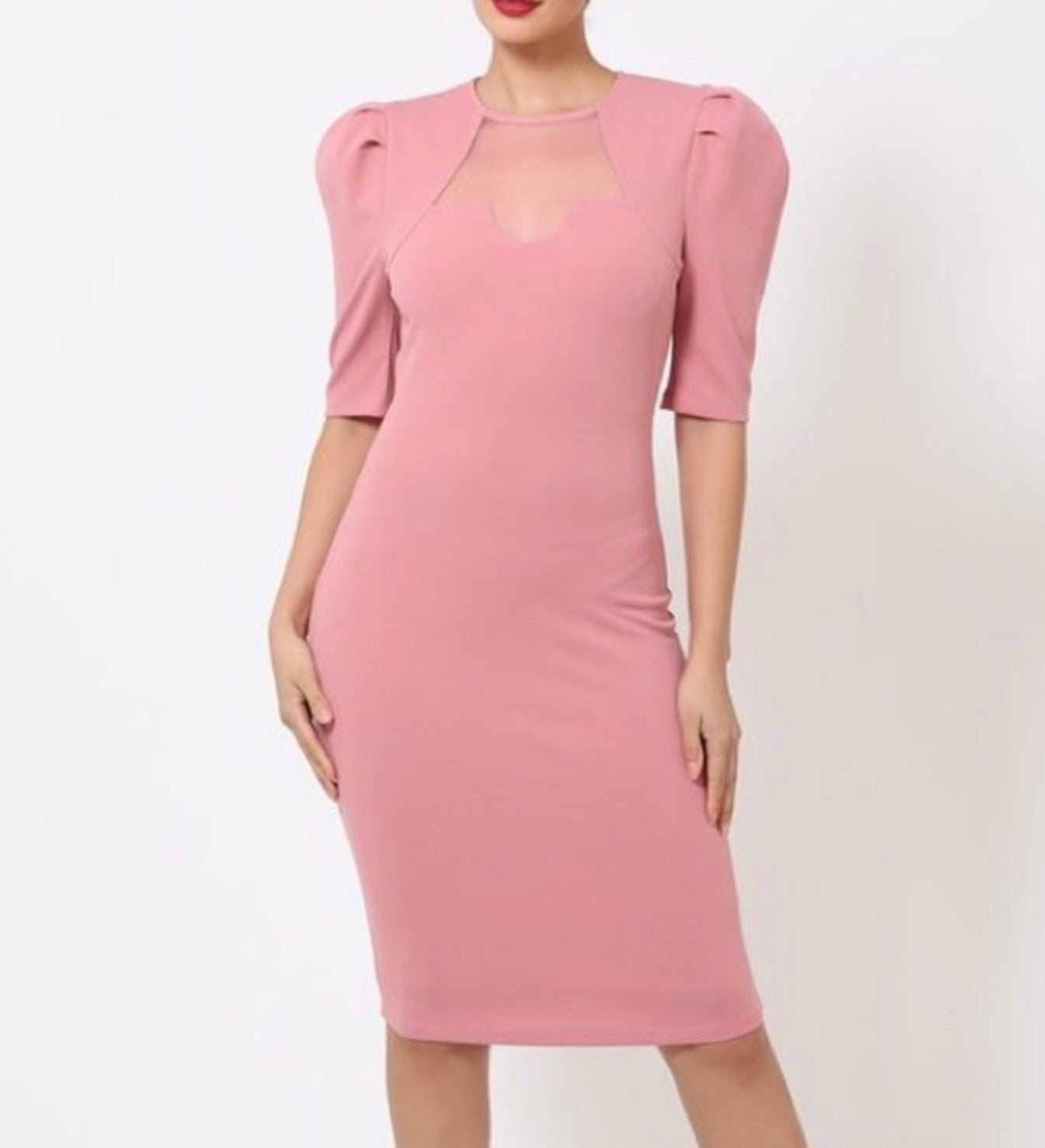 Pink Mid Length Dress